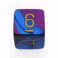 Chessex Gemini Blue & Purple D6 Dice