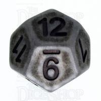 TDSO Opaque Antique Silver D12 Dice