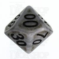 TDSO Opaque Antique Silver Percentile Dice