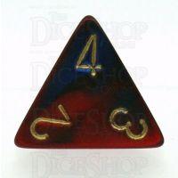 Chessex Gemini Blue & Red D4 Dice