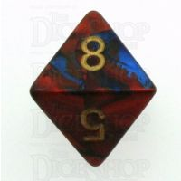 Chessex Gemini Blue & Red D8 Dice