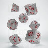 Q Workshop Classic RPG Pearl White & Red 7 Dice Polyset