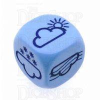 D&G Opaque Blue Weather D6 Dice