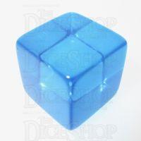 Koplow Translucent Blank Blue 16mm D6 Dice