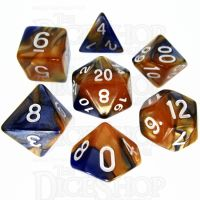 TDSO Duel Blue & Gold 7 Dice Polyset