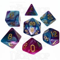 TDSO Duel Purple & Teal 7 Dice Polyset