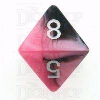 Chessex Gemini Black & Pink D8 Dice