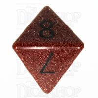 TDSO Goldstone Gold with Engraved Numbers 16mm Precious Gem D8 Dice