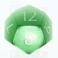 TDSO Cats Eye Light Green with Engraved Numbers 16mm Precious Gem D12 Dice