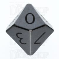TDSO Hematite with Engraved Numbers 16mm Precious Gem D10 Dice