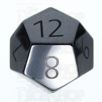 TDSO Hematite with Engraved Numbers 16mm Precious Gem D12 Dice
