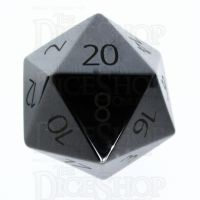 TDSO Hematite with Engraved Numbers 16mm Precious Gem D20 Dice