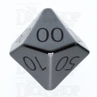 TDSO Hematite with Engraved Numbers 16mm Precious Gem Percentile Dice