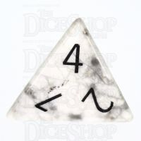 TDSO Howlite White with Engraved Numbers 16mm Precious Gem D4 Dice