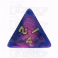 D&G Toxic Acid Purple & Blue D4 Dice