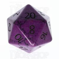 TDSO Turquoise Purple Synthetic with Engraved Numbers 16mm Precious Gem D20 Dice
