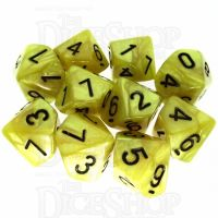 TDSO Pearl Yellow & Black 10 x D10 Dice Set