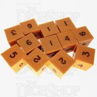 GameScience Opaque Pumpkin & Black Ink 12 x D6 Dice Set