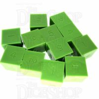 GameScience Opaque Lime 12 x D6 Dice Set