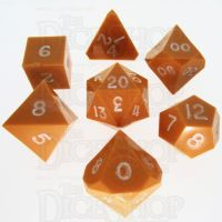 GameScience Opaque Pumpkin & White Ink 7 Dice Polyset