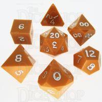 GameScience Opaque Pumpkin & Silver Ink 7 Dice Polyset