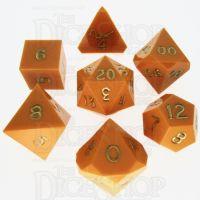 GameScience Opaque Pumpkin & Gold Ink 7 Dice Polyset
