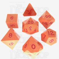 GameScience Opaque Tangerine & Red Ink 7 Dice Polyset