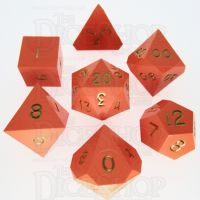 GameScience Opaque Tangerine & Gold Ink 7 Dice Polyset