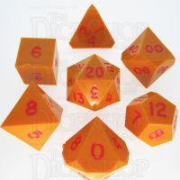 GameScience Opaque Pumpkin & Red Ink 7 Dice Polyset