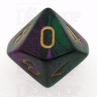 Chessex Gemini Green & Purple D10 Dice