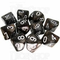 TDSO Duel Gold & Silver 10 x D10 Dice Set