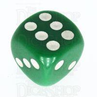TDSO Opaque Green 16mm D6 Spot Dice