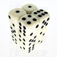 TDSO Opaque Ivory 12 x D6 Dice Set