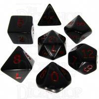 Koplow Opaque Black & Red 7 Dice Polyset