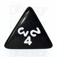 Koplow Opaque Black & White D4 Dice