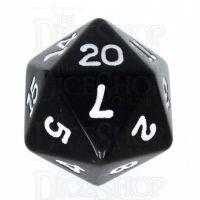 Koplow Opaque Black & White D20 Dice