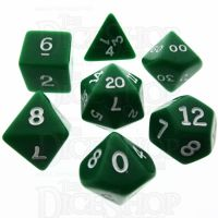 Koplow Opaque Green & White 7 Dice Polyset