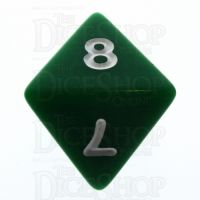 Koplow Opaque Green & White D8 Dice