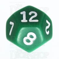 Koplow Opaque Green & White D12 Dice