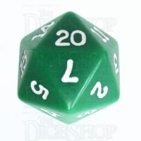 Koplow Opaque Green & White D20 Dice