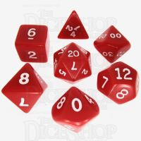 Koplow Opaque Red & White 7 Dice Polyset