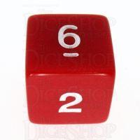 Koplow Opaque Red & White D6 Dice