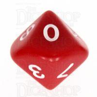 Koplow Opaque Red & White D10 Dice