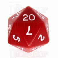 Koplow Opaque Red & White D20 Dice
