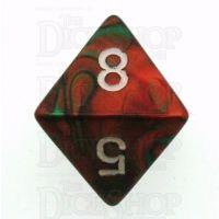 Chessex Gemini Green & Red D8 Dice