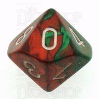 Chessex Gemini Green & Red D10 Dice