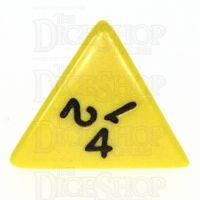 Koplow Opaque Yellow & Black D4 Dice