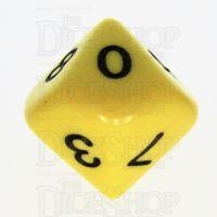 Koplow Opaque Yellow & Black D10 Dice