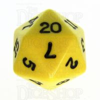Koplow Opaque Yellow & Black D20 Dice