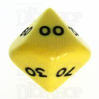 Koplow Opaque Yellow & Black Percentile Dice